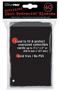 Ultra Pro - Oversized Deck Protectors - Black (40 Sleeves) - Cover