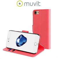 Muvit Folio Wallet Case for iPhone 7 - Pink - Cover