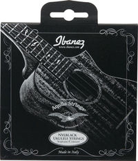 Ibanez NBUKS4 Black Nylon Soprano and Concert Ukulele Strings (by Aquila Strings) - Cover