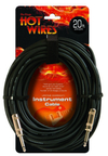 On-Stage IC-20 20ft Instrument 1/4 Inch Jack-Jack Cable (Black)