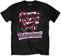 AC/DC - We Salute You Stripe Mens Black T-Shirt (X-Large) - Cover