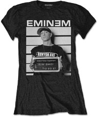 Eminem - Arrest Ladies Black T-Shirt (Large) - Cover
