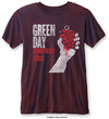 Green Day - American Idiot Vintage Mens Burnout Navy/Red T-Shirt (Medium)