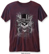 Guns N Roses - Faded Skull Mens Burnout Navy/Red T-Shirt (XX-Large)