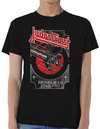 Judas Priest - Silver and Red Vengeance Mens Black T-Shirt (Small)