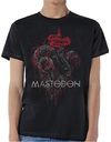 Mastodon - Rams Head Colour Mens Black T-Shirt (Small)