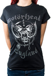 Motorhead - England Diamante Ladies Black T-Shirt (Large)