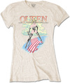 Queen - Mistress Ladies Sand T-Shirt (Large)