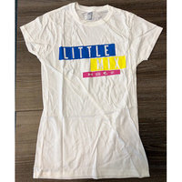 Little Mix - Logo Blue/Yellow/Pink Ladies White T-Shirt (Small) - Cover