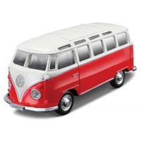Bburago - VW T1 Samba Van - Red/White (1/64)