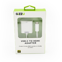 Gizzu USB Type-C to VGA Display Adapter - White - Cover