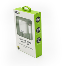 Gizzu USB Type-C to HDMI Adapter - White - Cover