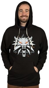 The Witcher 3 - White Wolf Men's Pullover Mens Hoodie (XX-Large) - Cover