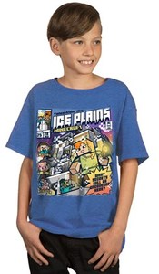 Minecraft - Tales From the Ice Plains Youth T-Shirt (X-Large) - Cover