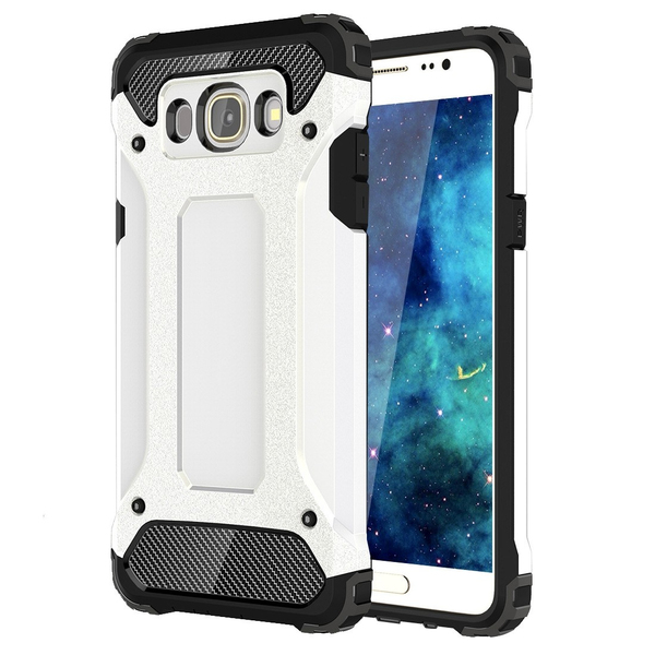 Tuff-Luv Tough Armour Layered Case for Samsung J5 - White (2016)