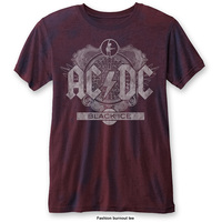 AC/DC Men's Fashion Tee: Black Ice (Burn Out) (Large) - Cover