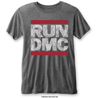 Run DMC Men's Fashion Tee: DMC Logo with Burn Out Finishing (X-Large) - Cover