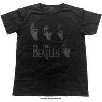 The Beatles Men's Fashion Tee: Faces (Vintage Finish) (Large) - Cover