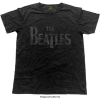 The Beatles Men's Fashion Tee: Logo (Vintage Finish) (Small) - Cover