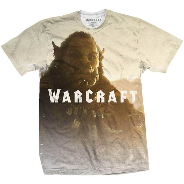World of Warcraft Men's Tee: Durotan Fade with Sublimation Printing  (XX-Large)