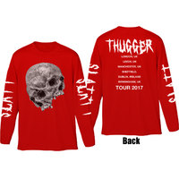Young Thug Thugger Skull Mens Red Long Sleeve T Shirt (X-Large) - Cover