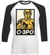 Star Wars - Classic C-3PO Block Raglan Long Sleeve T-Shirt (X-Large)
