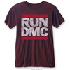 Run Dmc Logo Vintage Mens Navy Red Burnout Tshirt: Large (Large)