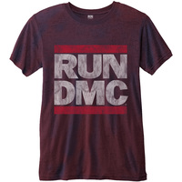 Run DMC Men's Fashion Tee: Logo Vintage with Burn Out Finishing (Medium) - Cover