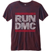 Run DMC Men's Fashion Tee: Logo Vintage with Burn Out Finishing (X-Large)