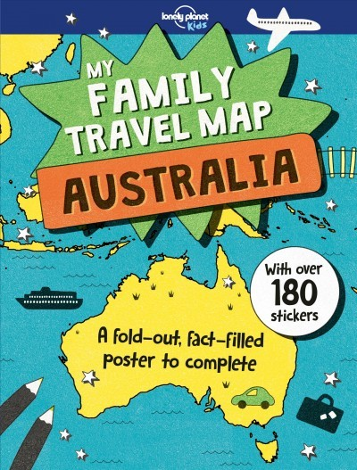 my family travel map australia lonely planet kids paperback