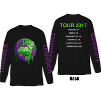 Young Thug Thugger Globe Mens Black Long Sleeve T Shirt (Small) - Cover