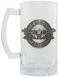 Guns N Roses - Logo Stein Glass - Cover