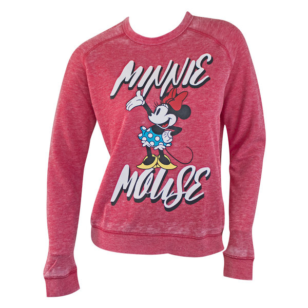 Minnie Mouse Womens Red Crewneck Sweatshirt Medium Merch Online