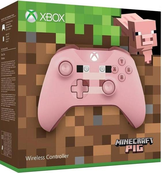 Microsoft - Minecraft Wireless Pig Controller - With 3 5mm Stereo Headset  Jack (Xbox One)