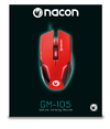 NACON - GM-105 Wired (1.5M) Gaming Mouse for PC - Red