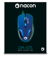 NACON - GM-105 Wired (1.5M) Gaming Mouse for PC - Blue