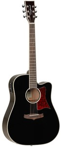Tanglewood TW5 BK Winterleaf Series Dreadnought Acoustic Electric Guitar (Black) - Cover