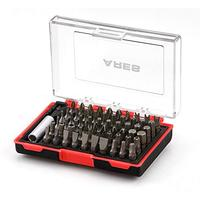 61-Piece Security Bit Set with Magnetic Extension Bit Holder | ARES 70010 | Includes Tamper Resistant Metric Hex and Star Bits | Slotted, Pozi, Philips, Square, Spanner, Metric Hex and Star Bits (Misc.)