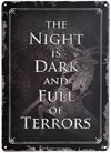 Game Of Thrones - Night is Dark - A5 Tin Sign