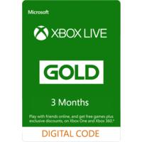 Xbox Live 3 Months Gold Membership (Xbox 360/Xbox One)
