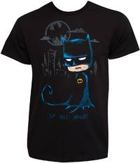 Batman - Up All Night Black Tee Shirt (X-Large) - Cover