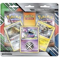 Pokémon TCG - 3 Alolan Promo Cards with 2 Booster Packs and Coin (Trading Card Game)