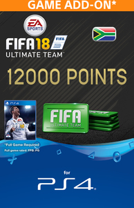FIFA 18 Ultimate Team Digital - 12000 Points (PS4 Download) - Cover
