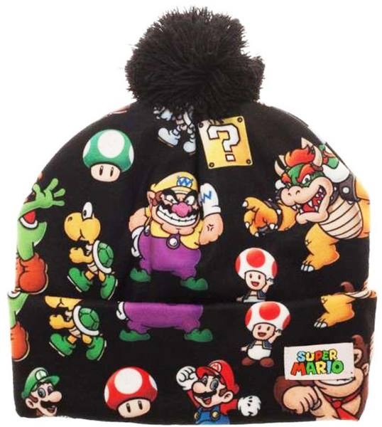 super mario bros all over print winter pom beanie - Super Mario Pictures To Print