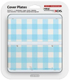 Nintendo new 3DS Cover Plates - Light Blue Check