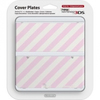 Nintendo new 3DS Cover Plates - Pink & White Stripes
