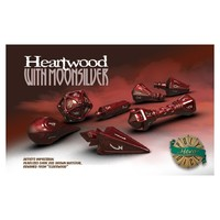 Polyhero Dice - Set of 7 Wizard Dice - Heartwood with Moonsilver - Cover