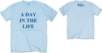 The Beatles - A Day In The Life Mens Blue T-Shirt (Small) - Cover