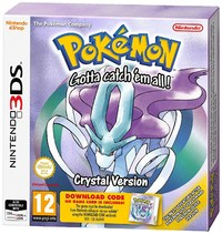Pokémon: Crystal Version (3DS) - Cover
