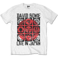 David Bowie Live In Japan Mens White T-Shirt (XX-Large)